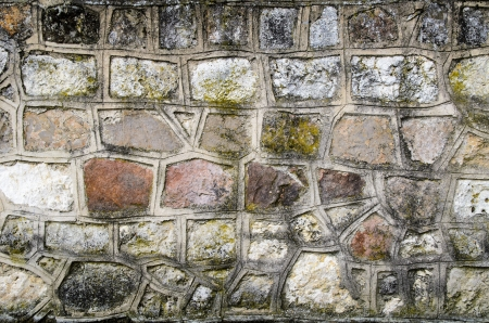 solidity: Grunge grey wall with irregular stones