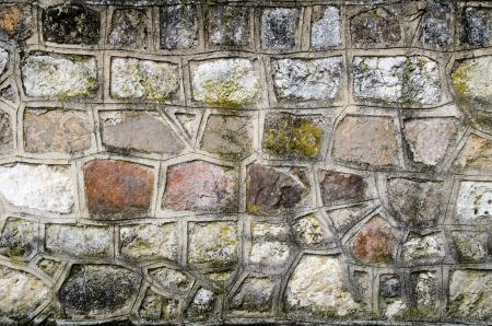 steadiness: Grunge grey wall with irregular stones