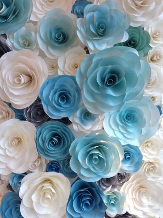too many: Too many paper rose Stock Photo