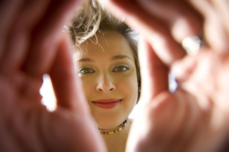 Young Woman Smiling Under The Sun Stock Photo - 3018896