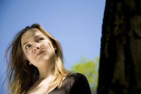 Young Blond Girl Enjoying The Sun. Stock Photo - 3018930