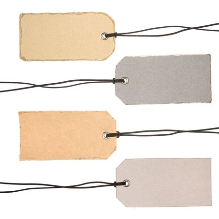 Set of Cardboard Tags. Ready for your message. photo