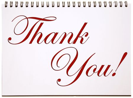 Thank You Sign on Notepad photo