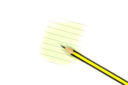 Pencil and Paper. Business Series. Stock Photo - 3031606