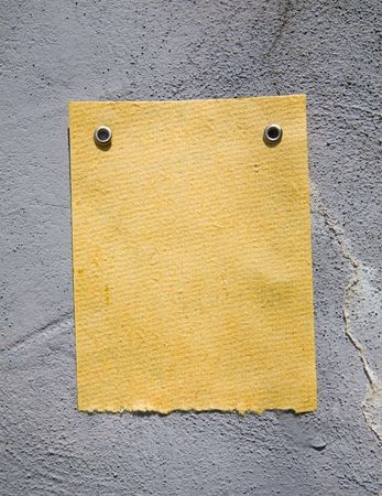 Old paper on the wall. Ready for your message. Stock Photo - 3031761