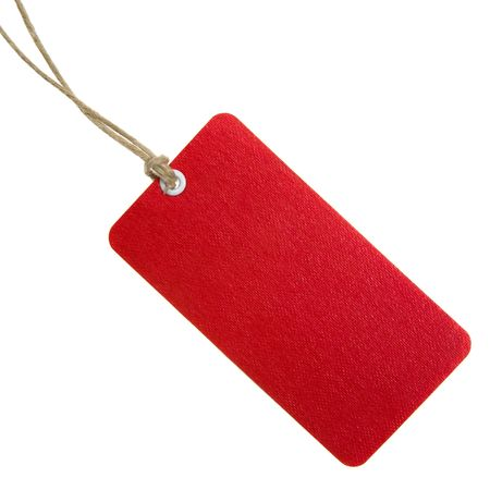 tag: Highly Detailed Red Shopping Tag Stock Photo