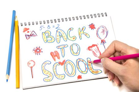 Back to School Image on White Background Stock Photo - 3031736