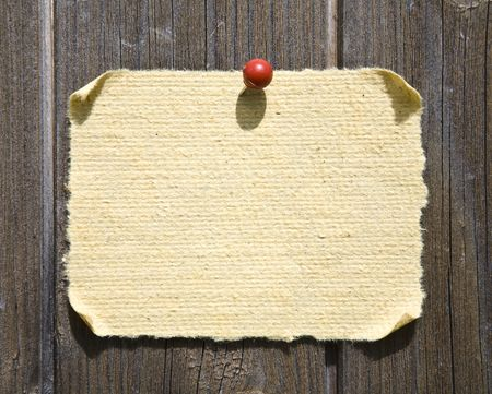 Grunge Paper On Wooden Background. Ready For Your Message. Stock Photo - 3094152