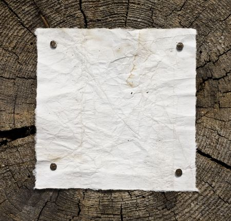 Old-Style Dirty Paper On Wooden Background. Ready For Your Message. Stock Photo - 3159761