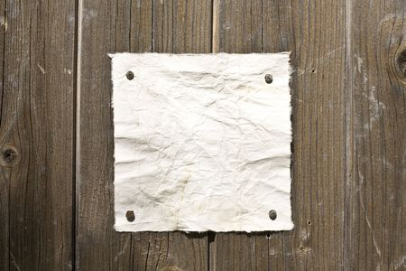 Retro Paper On Wooden Wall. Ready For Your Message. Stock Photo - 3159791