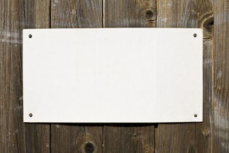 Paper On Brown Wood Texture. Ready For Your Message. Stock Photo - 3159788