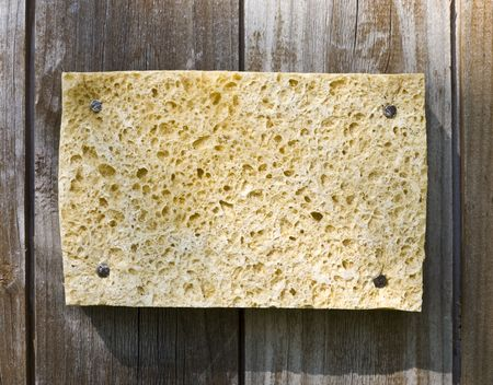 Old Sponge On Wooden Background Stock Photo - 3159763