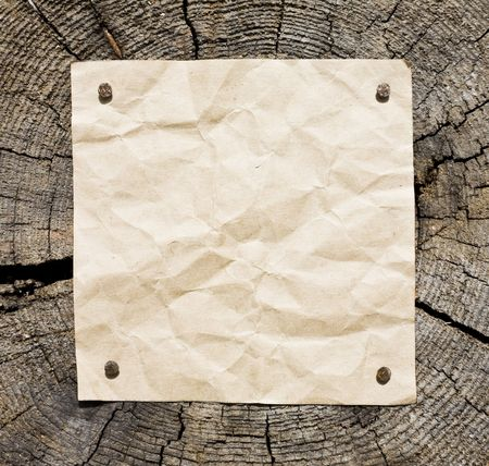 Old Paper On Wooden Background. Ready For Your message. Stock Photo - 3159768
