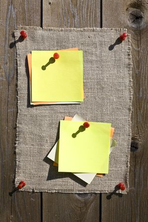 Yellow Notes On Wooden Background Stock Photo - 3159798
