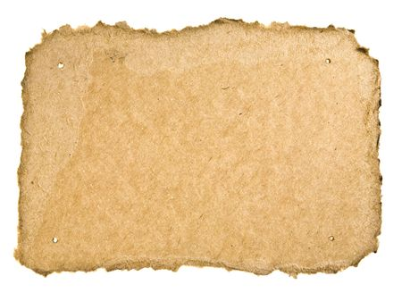 Torn Cardboard On White Background. Ready for your message. photo