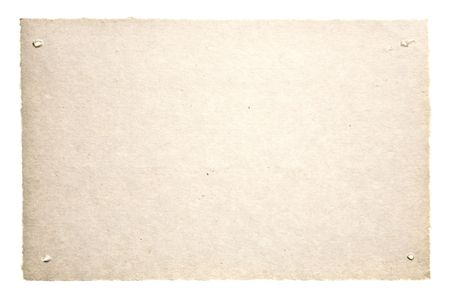 Old Paper Isolated On White. Ready for your message. photo