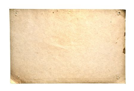 Retro Paper Isolated On White. Ready for your message. photo