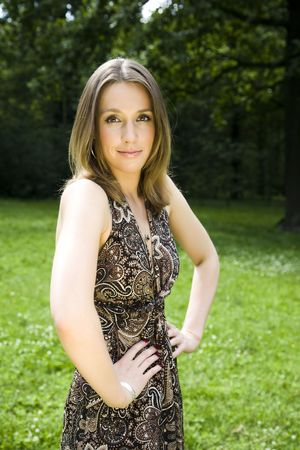 Beautiful Woman In The Park Stock Photo - 3281979