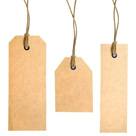 Set Of Paper Tags Isolated On White Background. Hand made. Stock Photo - 3281958