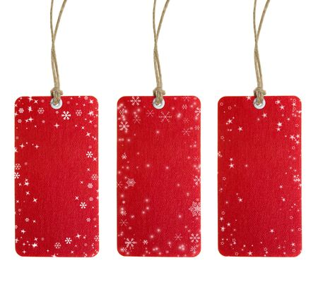 blank tag: Christmas Tag Set One. Isolated on white.