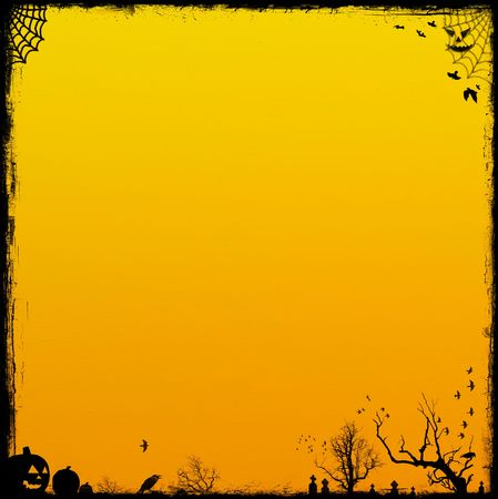 Orange Halloween Background. Halloween Backgrounds Collection - see more in my portfolio. Stock Photo - 3377628