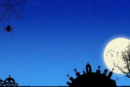 Blue Halloween Background. Halloween Backgrounds Set - see more in my portfolio. Stock Photo - 3377627