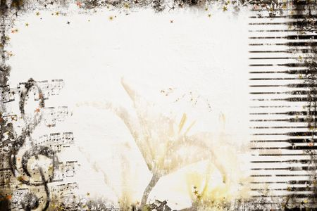 grunge music background: Grunge Music Background. Background series - see more in my portfolio. Stock Photo