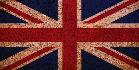 britain flag: Rusty Bandera de Gran Breta�a. Serie bandera - ver m�s en mi cartera. Foto de archivo