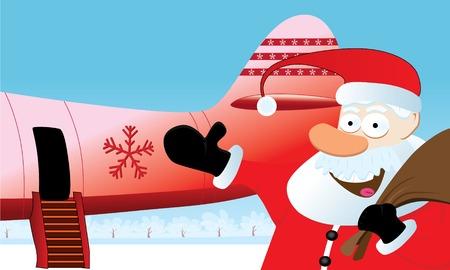 Christmas Travel Artwork. Vector Image. Stock Vector - 3642981