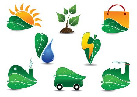 Grand jeu d'icône écologie. Facile à modifier vecteur.