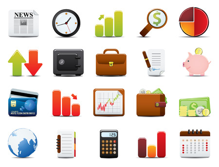 finance icon: Finance Icon Set. Easy To Edit Vector Image. Illustration