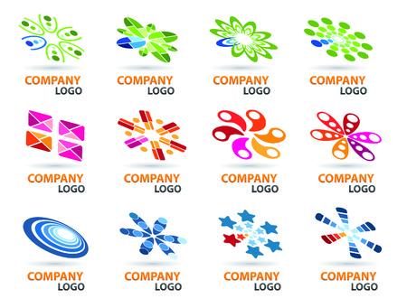 edit: Logo Design Set. Easy To Edit Vector.