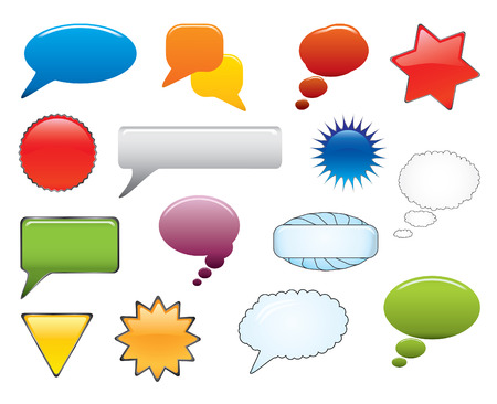 Message Elements Set. Easy to edit vector. Stock Vector - 3642952