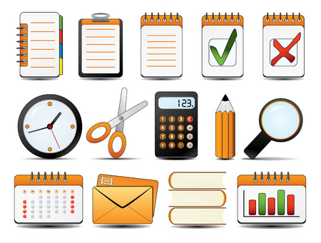 Office Icon Set One. Easy to edit vector. Vector
