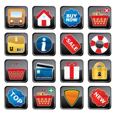 Shopping Icon Set. Easy To Edit Vector. Stock Vector - 3642951