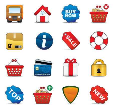 Shopping Icon Set. Easy To Edit Vector Image. Stock Vector - 3642948