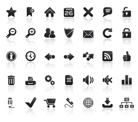 marcadores de libros: Web de Conjunto de iconos. F�cil de editar los vectores de imagen. Vectores