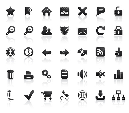 edit icon: Web Icon Set. Easy To Edit Vector Image.