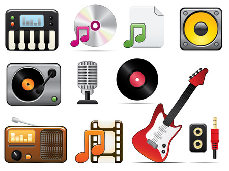 Music Icon Set One. Easy To Edit Vector Image. Vector