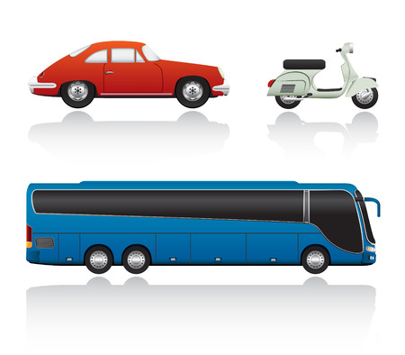Vector Transport Set One. Hand Draw. Easy To Edit.