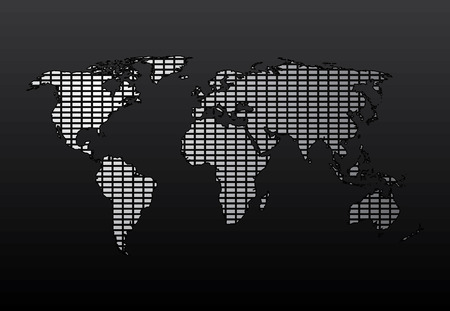World Map. Easy To Edit Vector Image. Illustration