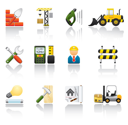 Construction Icon Set. Easy To Edit Vector Image.