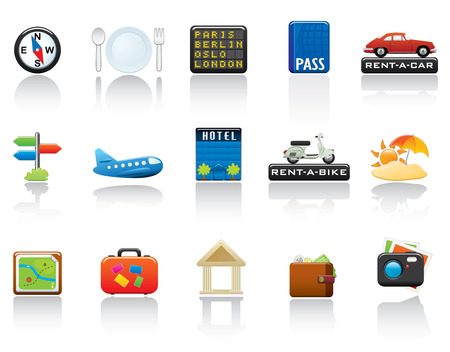 Travel Icon Set. Easy To Edit Vector Image. Vector