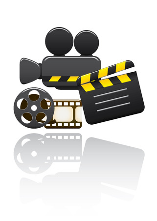 filming: Vector Video Set. Easy To Edit Vector Image. Illustration
