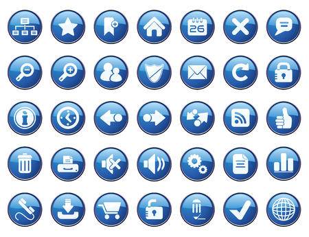 Internet Icon Set. Easy To Edit Vector. Stock Vector - 3770274