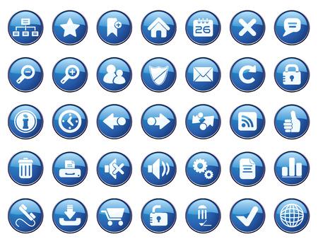 Internet Icon Set. Easy To Edit Vector. Stock Vector - 3770274