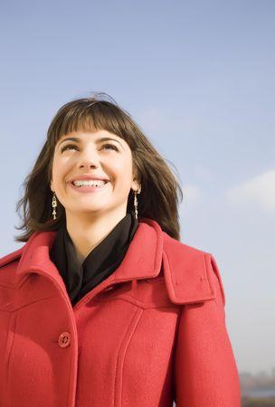 Smiling Woman Portrait Outdoors photo