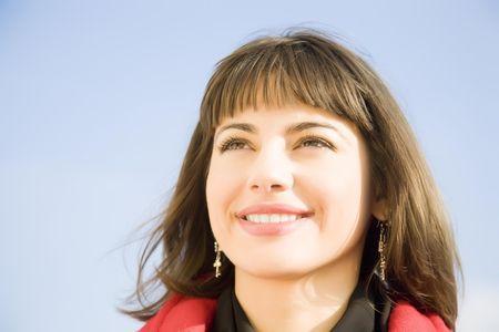 Happy Woman Portrait Outdoors photo