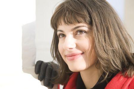Happy Girl Close Up Portrait  photo