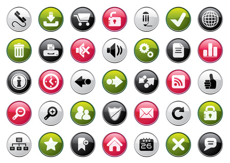 edit: Internet Four Colors Icon Set. Easy To Edit Vector. Illustration